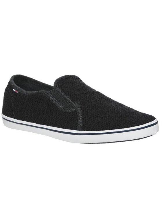 Tommy Hilfiger Tommy Hilfiger Sneakers aus Stoff DENIM - Spencer 19 EM56815349 Schwarz