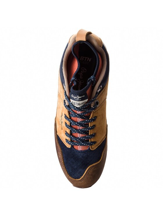 Pepe Jeans Pepe Jeans Sneakersy Btn Treck Lth Pack PMS30473 Brązowy