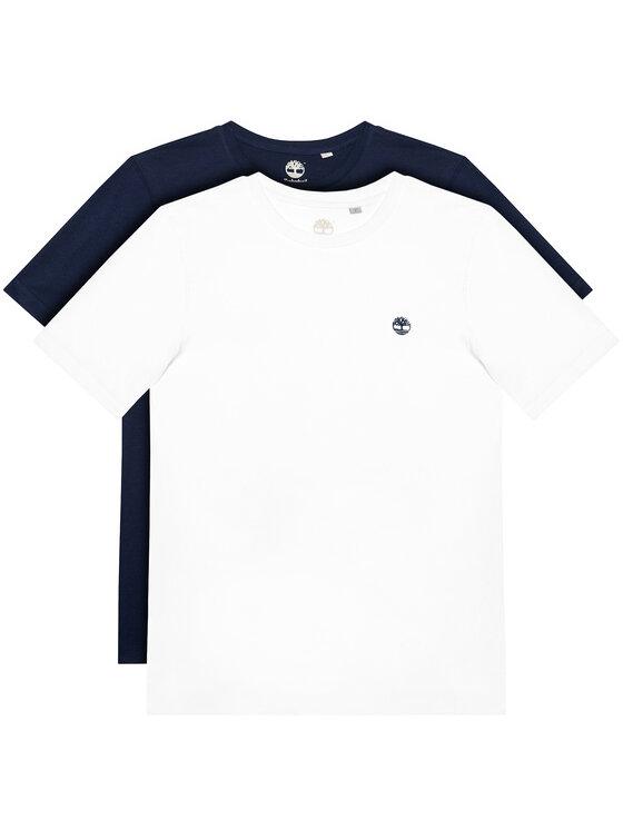 Timberland 2 marškinėlių komplektas T25S27 D Spalvota Regular Fit