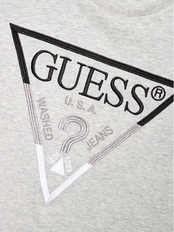 Guess Guess T-Shirt H1RJ05 K8HM0 Szary Regular Fit