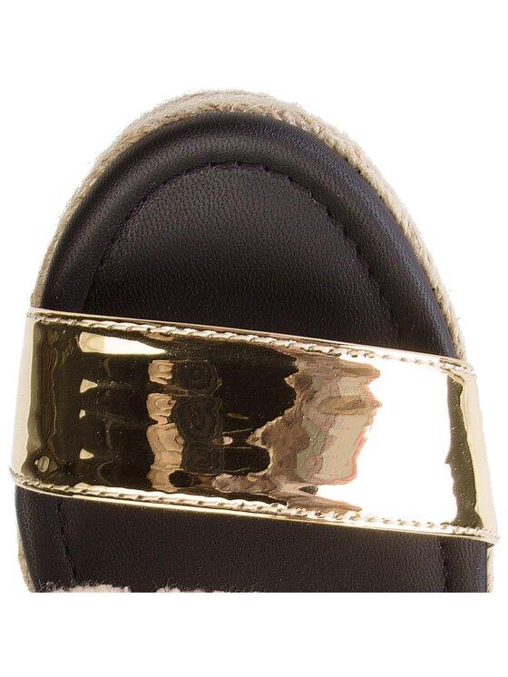 Tommy Hilfiger Tommy Hilfiger Espadrilės Shiny Metallic Flatform Sandal FW0FW03393 Auksinė