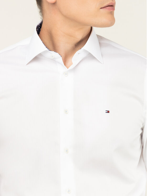 Tommy Hilfiger Tailored Tommy Hilfiger Tailored Košile Poplin Classic TT0TT06631 Bílá Regular Fit