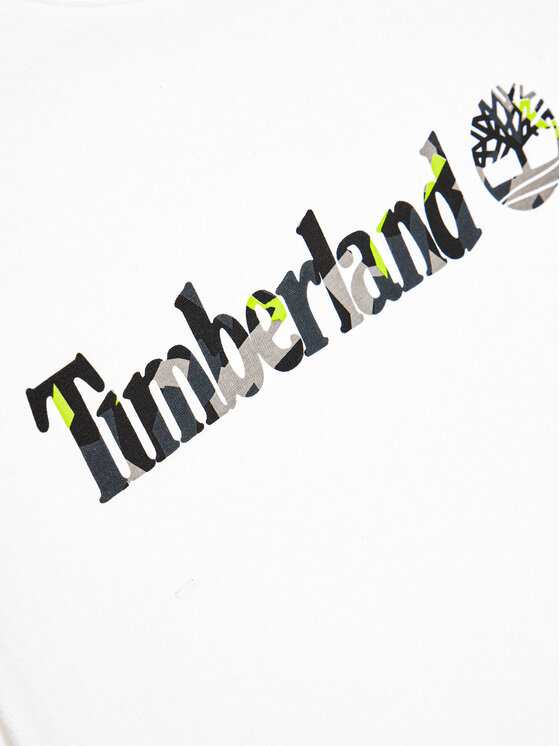 Timberland Timberland T-Shirt T45818 Biały Regular Fit