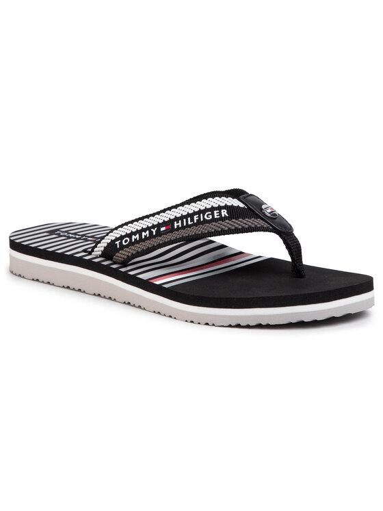 Tommy Hilfiger Tommy Hilfiger Flip-flops Stripy Flap Beach Sandal FW0FW04799 Fekete