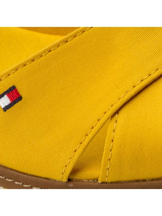 Tommy Hilfiger Tommy Hilfiger Espadryle Iconic Elba Sandal Basic FW0FW02648 Żółty