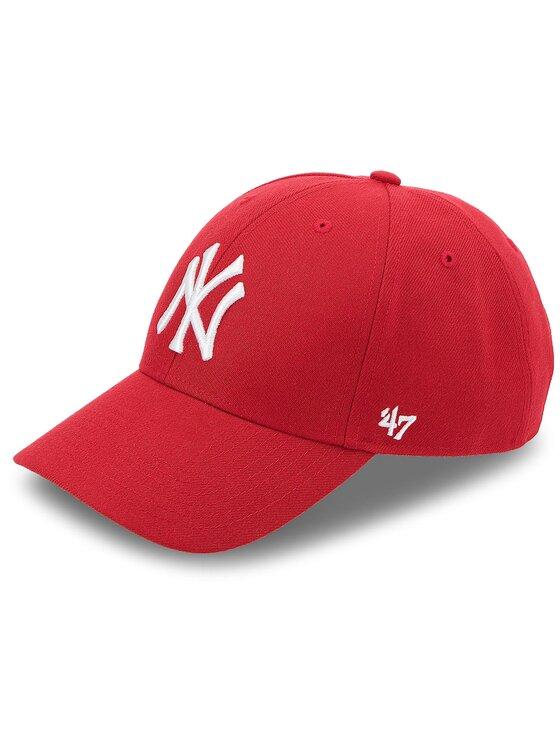47 Brand Kepurė su snapeliu New York Yankees 47 B-MVP17WBV-RD Raudona