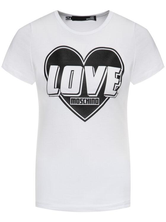 LOVE MOSCHINO LOVE MOSCHINO Tričko W4F7357E 1698 Biela Regular Fit