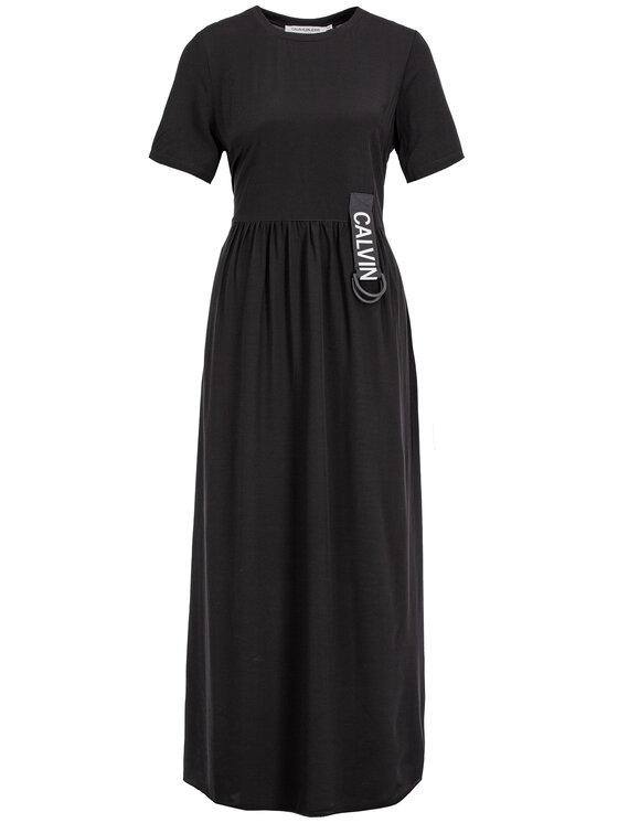 Calvin Klein Jeans Calvin Klein Jeans Každodenné šaty J20J212265 Čierna Regular Fit