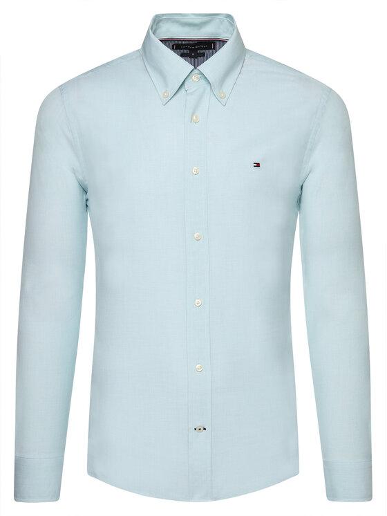 Tommy Hilfiger Tommy Hilfiger Marškiniai Natural Soft End On End MW0MW12736 Mėlyna Regular Fit