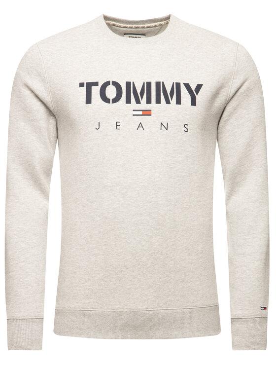 Tommy Jeans Tommy Jeans Bluza Tjm Novel Logo Crew DM0DM07614 Szary Regular Fit