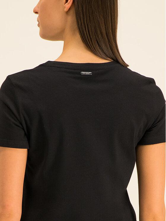 Guess Guess T-Shirt Lips W01I0M I3Z00 Černá Regular Fit
