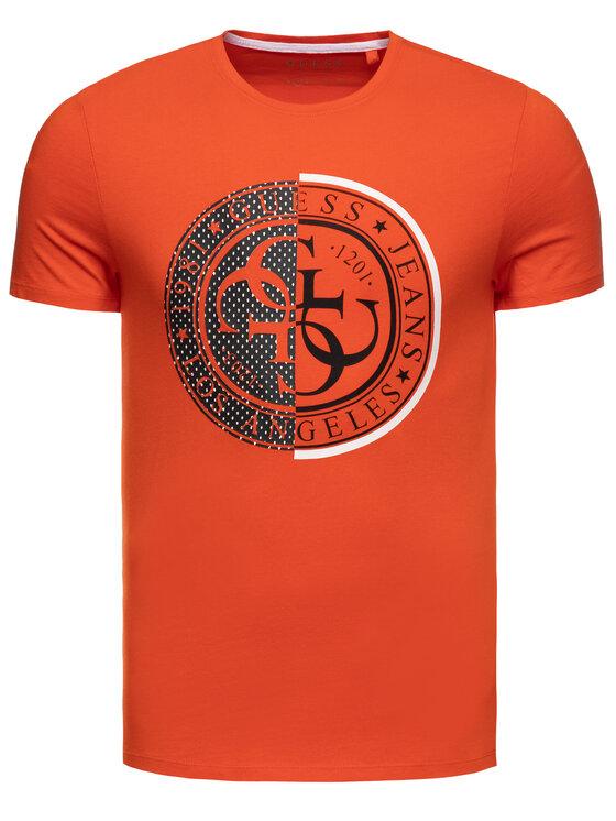 Guess Guess T-shirt M93I37 R5JK0 Arancione Slim Fit
