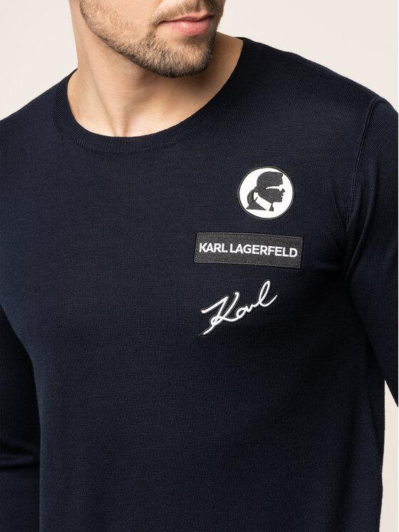 KARL LAGERFELD KARL LAGERFELD Megztinis 655007 592399 Tamsiai mėlyna Regular Fit