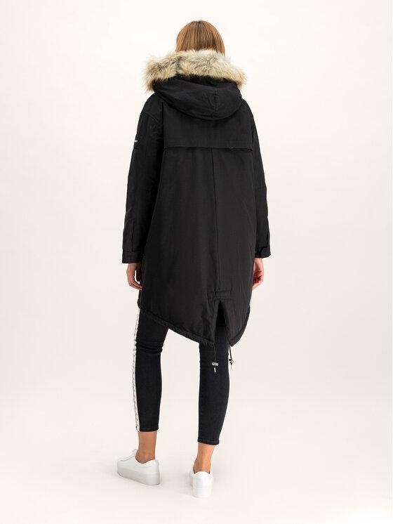 Calvin Klein Calvin Klein Parka Peached Down K20K201191 Schwarz Regular Fit