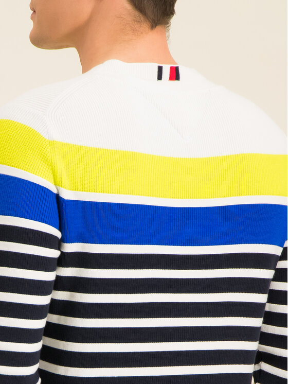 Tommy Hilfiger Tommy Hilfiger Pulover Breton Striped MW0MW12282 Colorat Regular Fit