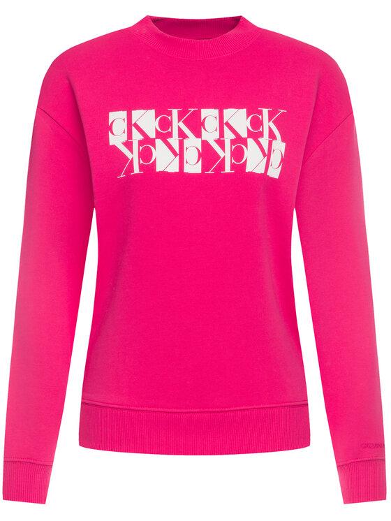 Calvin Klein Jeans Calvin Klein Jeans Суитшърт Mirror Monogram Logo Organic J20J212984 Розов Regular Fit