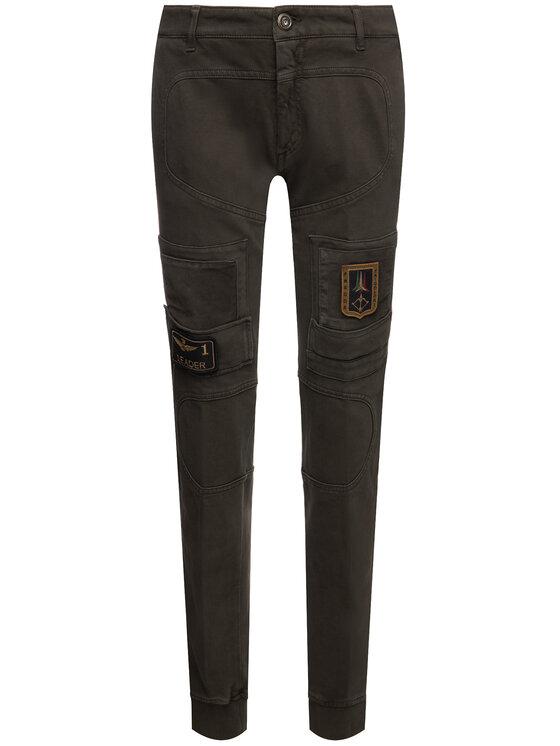 Aeronautica Militare Aeronautica Militare Pantalon en tissu 192PF743J217 Vert Regular Fit