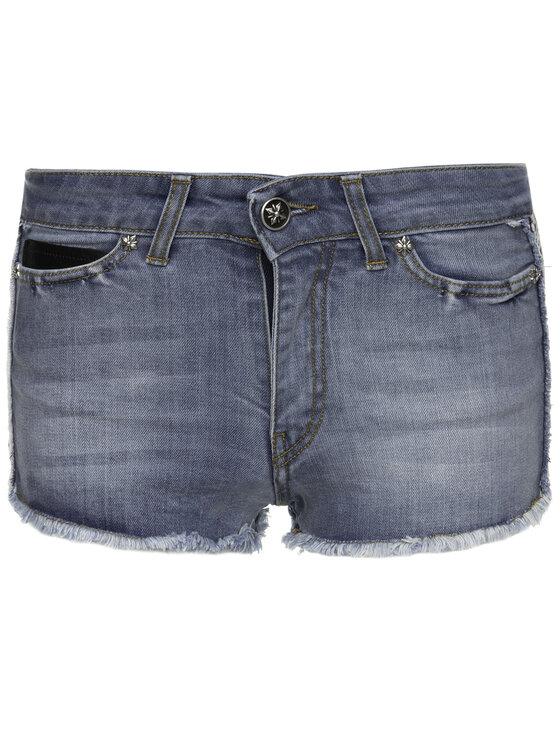 John Richmond John Richmond Szorty jeansowe Carbon RWP19276SH Niebieski Slim Fit