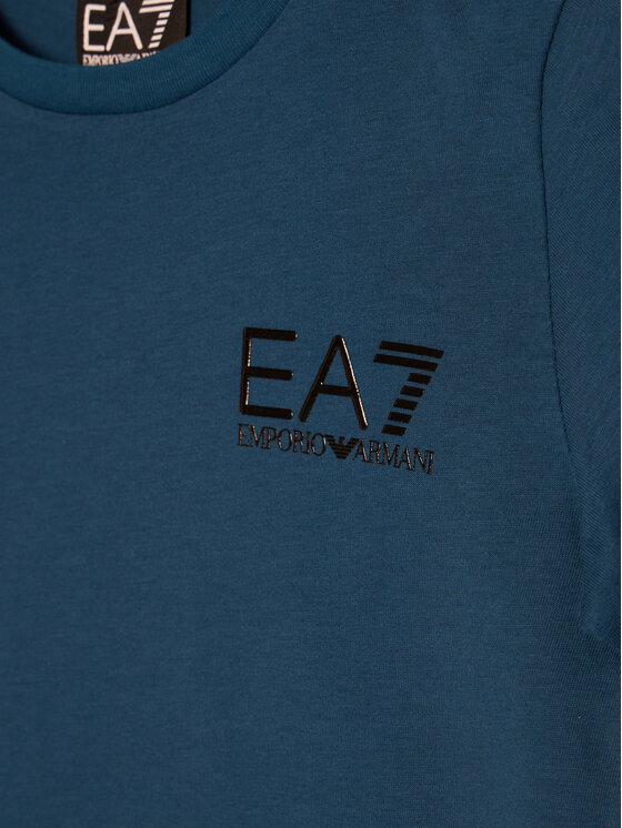 EA7 Emporio Armani EA7 Emporio Armani T-Shirt 6HBT51 BJ02Z 1546 Granatowy Regular Fit