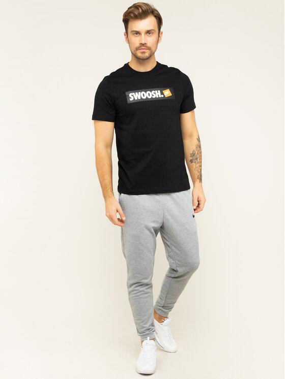 NIKE NIKE Tričko NSW Tee Swoosh AR5027 Čierna Standard Fit