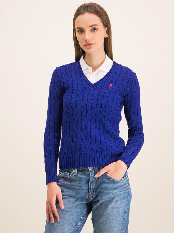 Polo Ralph Lauren Polo Ralph Lauren Sweter 211580008 Granatowy Regular Fit