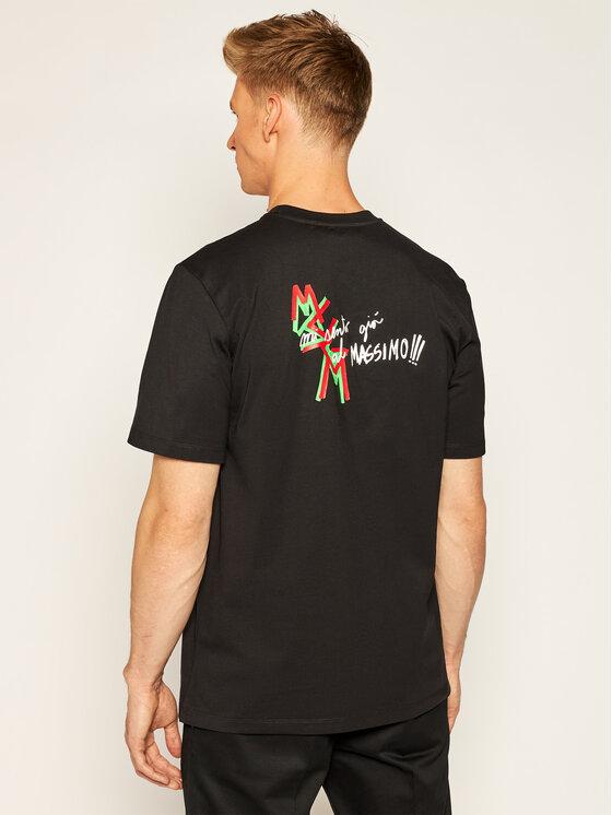 MSGM MSGM T-Shirt 2940MM70 207598 Černá Regular Fit