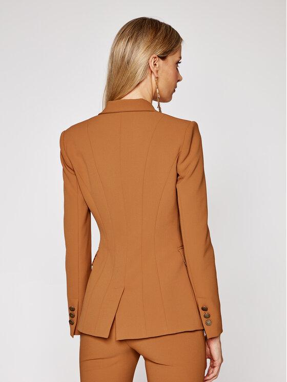 Elisabetta Franchi Elisabetta Franchi Set jachetă și pantaloni din material textil TP-001-06E2-V629 Maro Slim Fit
