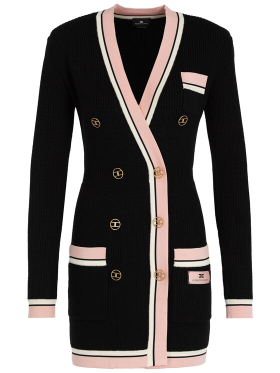 Elisabetta Franchi Elisabetta Franchi Robe en tricot AM-64S-97E2-V429 Noir Slim Fit