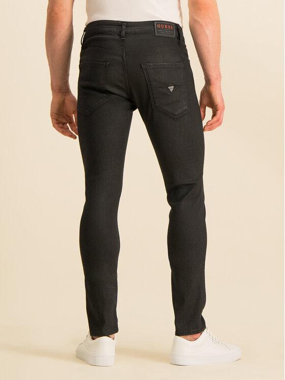 Guess Guess Дънки Skinny Fit Miami M94AN1 D2R81 Черен Super Skinny Fit