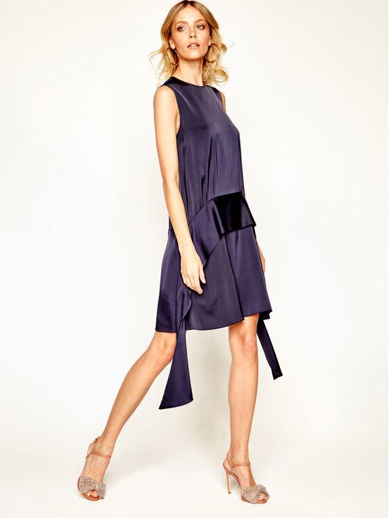 Victoria Victoria Beckham Kokteilinė suknelė Satin Carpe 2120WDR000489B Tamsiai mėlyna Regular Fit