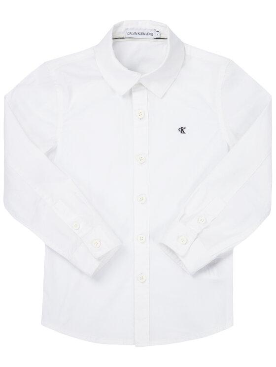 Calvin Klein Jeans Calvin Klein Jeans Cămașă Essential Poplin Shirt IB0IB00366 Alb Regular Fit