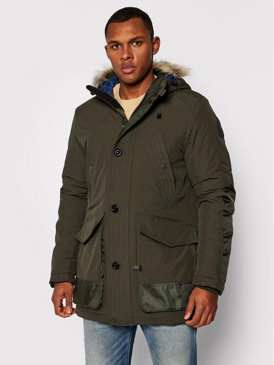 G-Star Raw Parka Vodan Faux Fur D17614-A281-995 Zielony Regular Fit