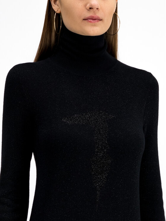 Trussardi Jeans Trussardi Jeans Robe en tricot Lurex 56D00301 Noir Regular Fit