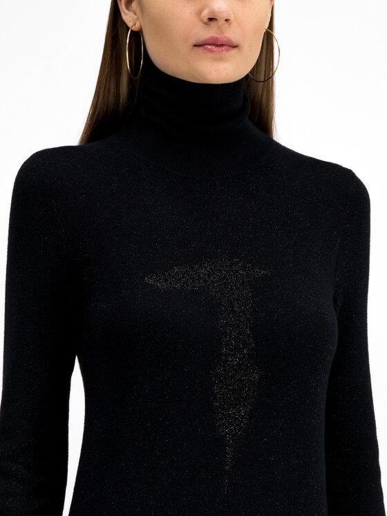 Trussardi Jeans Trussardi Jeans Sukienka dzianinowa Lurex 56D00301 Czarny Regular Fit