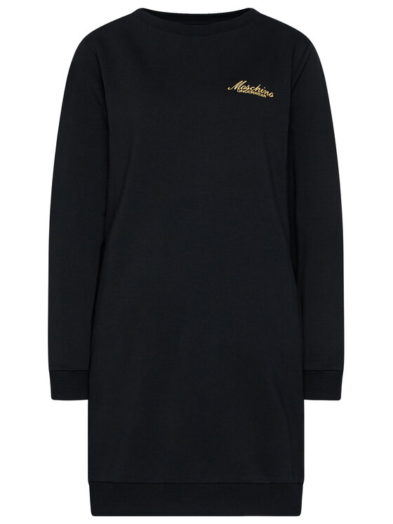 MOSCHINO Underwear & Swim MOSCHINO Underwear & Swim Úpletové šaty 17 209 006 Černá Regular Fit