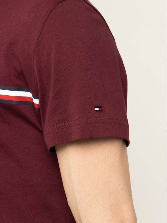 Tommy Hilfiger Tommy Hilfiger T-Shirt Corp Split MW0MW12520 Dunkelrot Regular Fit