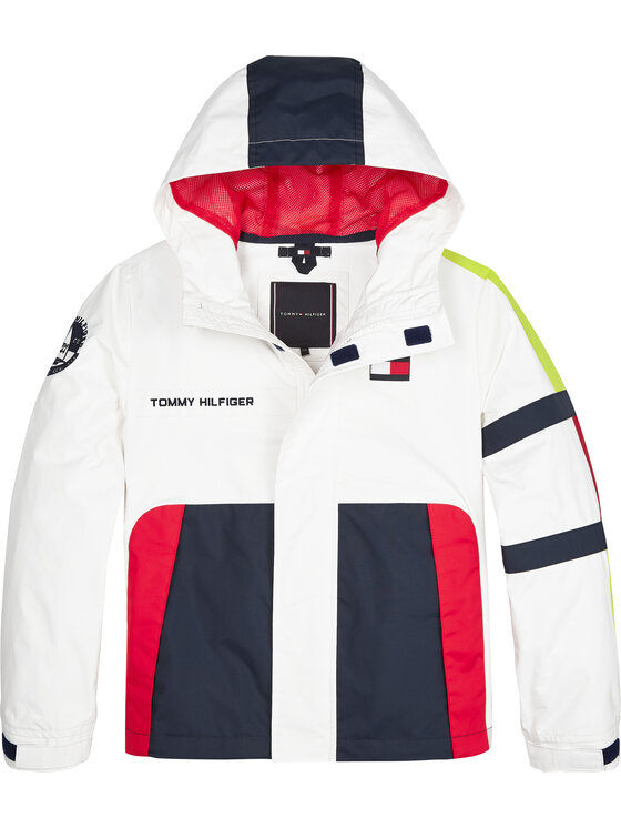 Tommy Hilfiger Tommy Hilfiger Μπουφάν μεταβατικό Sail KB0KB05592 D Λευκό Regular Fit