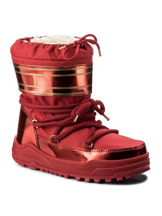 Tommy Hilfiger Tommy Hilfiger Śniegowce Wanda 7C2 FW0FW02073 Czerwony