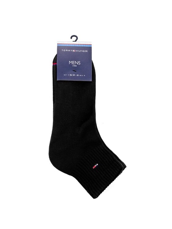 Tommy Hilfiger Tommy Hilfiger Комплект 2 чифта къси чорапи мъжки 442029001 Черен