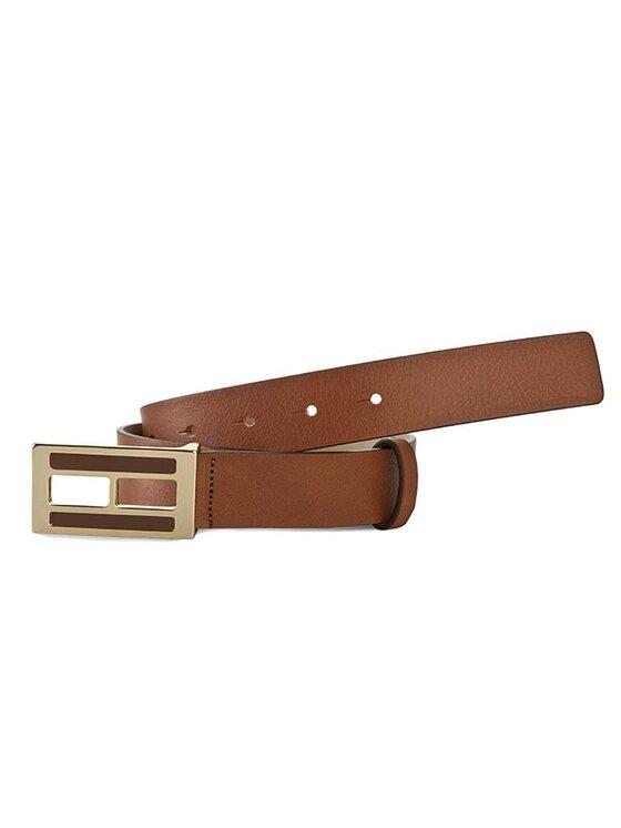 TOMMY HILFIGER TOMMY HILFIGER Dámský pásek Peggy Belt 3.0 BW56927379 Hnědá