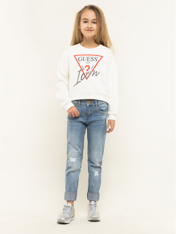 Guess Guess Суитшърт Icon J01Q05 K8D80 Бял Regular Fit