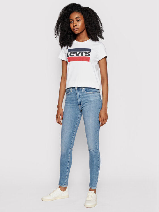 Levi's® Levi's® T-shirt The Perfect Graphic Tee 17369-0297 Bianco Regular Fit