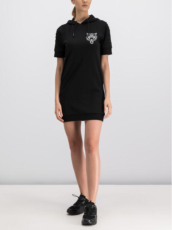 Plein Sport Plein Sport Φόρεμα υφασμάτινο F19C WJB0784 STE003N Μαύρο Regular Fit