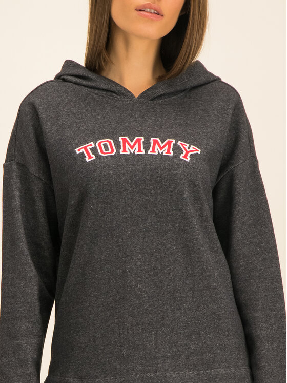 Tommy Hilfiger Tommy Hilfiger Mikina Batwing UW0UW01961 Sivá Regular Fit