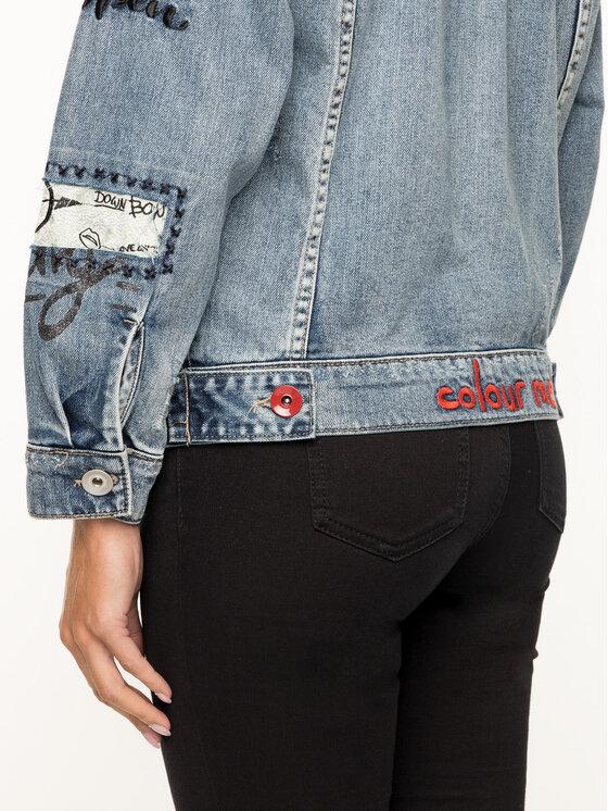 Desigual Desigual Jeansová bunda Chaq 19SWED60 Tmavomodrá Regular Fit