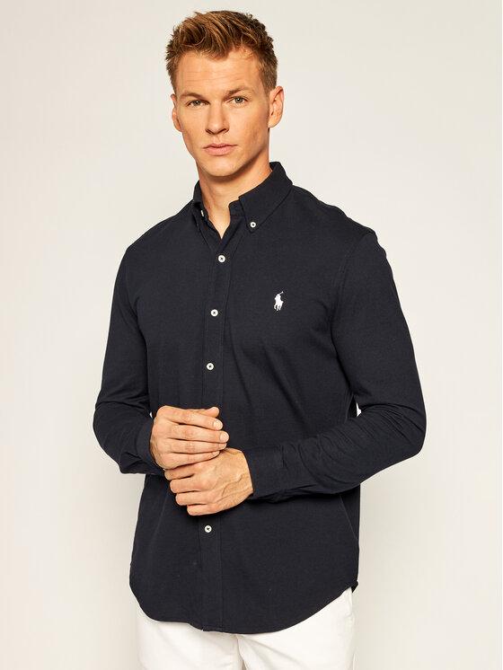 Polo Ralph Lauren Koszula 710654408016 Granatowy Regular Fit