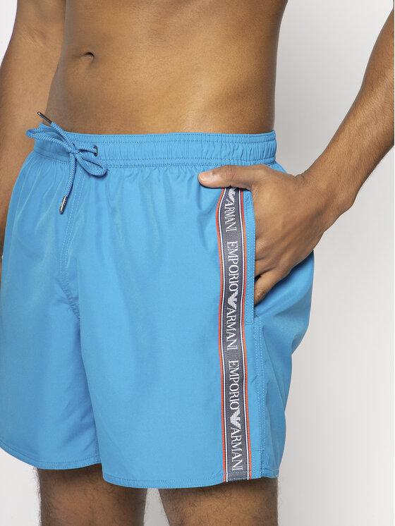 Emporio Armani Emporio Armani Plavecké šortky 211740 0P443 17432 Modrá Regular Fit