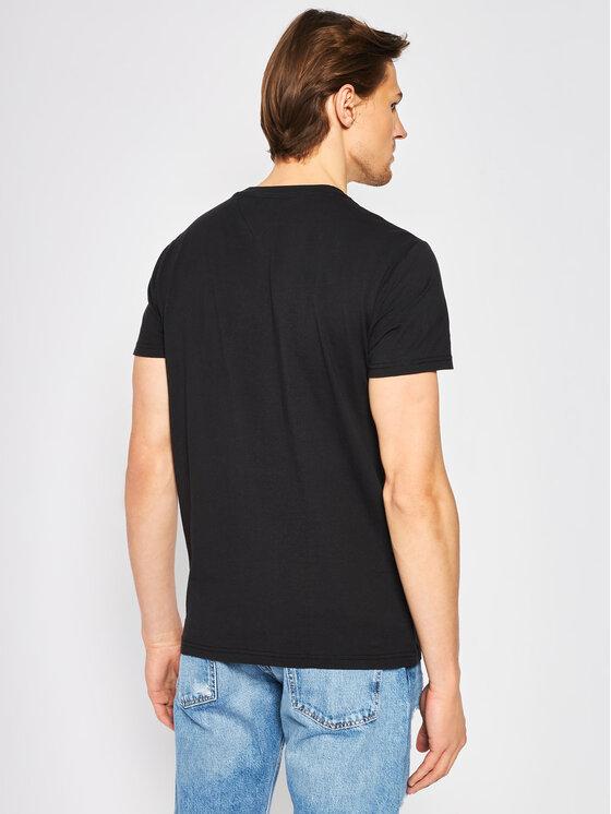 Tommy Jeans Tommy Jeans T-Shirt Chest Stripe Logo Tee DM0DM07858 Μαύρο Regular Fit