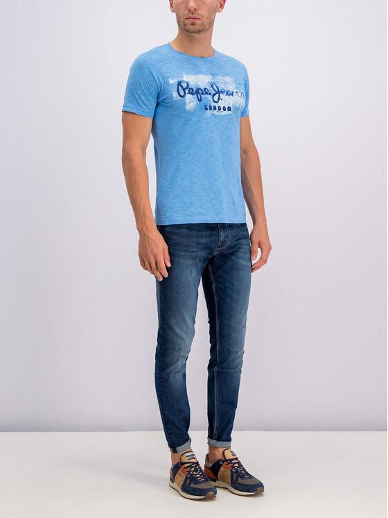 Pepe Jeans Pepe Jeans Tricou Golders PM503213 Albastru Regular Fit