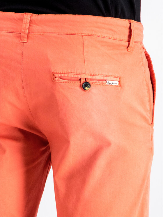 Pepe Jeans Pepe Jeans Σορτς υφασμάτινο PM800227C75 Πορτοκαλί Regular Fit